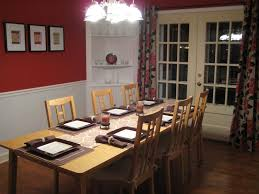 paint ideas for dining room with chair rail purple two tone