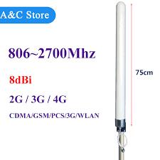 Antena Omni 2g 3g 4g wysoki zysk anteny 8dbi 806 2700 mhz antena omni w蛯羌kna