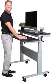 Stand Up Computer Desk by Best Full Size Adjustable Height Work Tables Strong And Sturdy