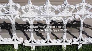diy halloween decor vintage fence youtube