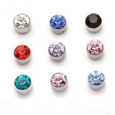 magnetic stud earrings 10 color women men design silver imitation blue pink black