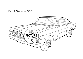 super car ford galaxie 500 coloring page for kids printable free