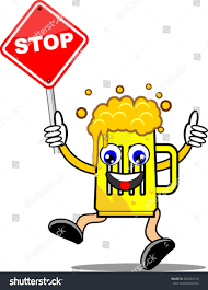 cartoon alcohol stop alcohol cartoon stock vector 286024130 shutterstock