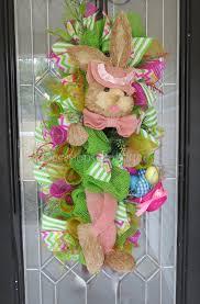easter wreath spring wreath easter door swag front door wreath
