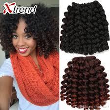 model model crochet hair hot sale 8inch 20strands ombre jumpy wand curl twist janet