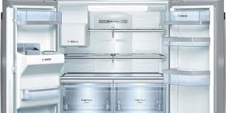 bosch home appliances unveils glass door refrigeration for small