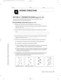 atomic structure 4 southgate schools