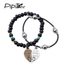 charm you bracelet images Vintage style couple lovers 39 heart charm bracelet jewelry retro jpg