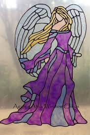 Stained Glass Window Decals Guardian Angel Window Cling Decal Faux Leadlight Stained Glass