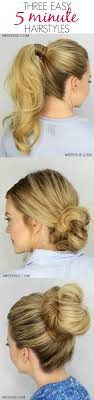 diy hairstyles in 5 minutes easy 5 minute hairstyles