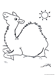 camel coloring pages printablefree printable coloring pages for kids