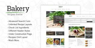 html layout under bakery responsive recipes html template by different themes