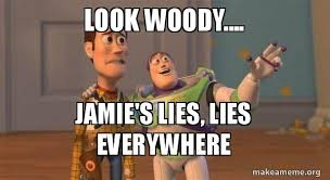 look woody jamie s lies lies everywhere buzz and woody toy