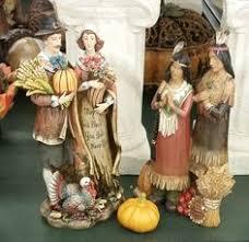 indians figurines autumn holidays family pilgrims