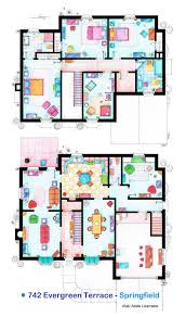 these are the floorplans of the simpson family house from the tv