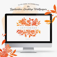 september illustrated desktop wallpaper happy september