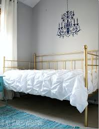 Paint Metal Bed Frame Bed Frame Created With Spray Paint