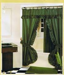 Fabric Shower Curtains With Valance Hunter Double Swag Fabric Shower Curtain Valance Liner Orly U0027s Dream