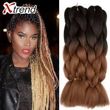 ombre kanekalon braiding hair two tone braiding hair hairstyle ideas