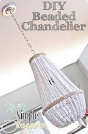 Beaded Wood Chandelier Wood Chandelier Lighting Foter