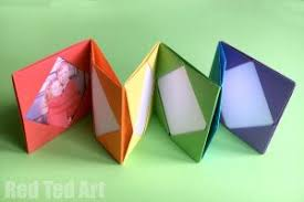 Cute Photo Albums Easy Origami For Kids Red Ted Art U0027s Blog