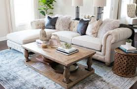 tufted sectional sofa living room transitional with wood coffee