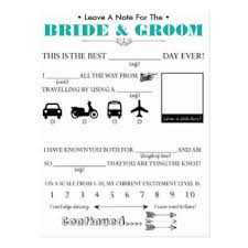 advice cards for and groom wedding advice cards zazzle