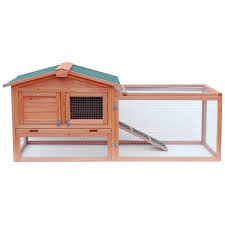 merax wooden rabbit hutch with fence and ramp u0026 reviews wayfair
