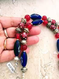 large red beads necklace images Trade beads jewelry ethnic necklaces african trade jewelry JPG