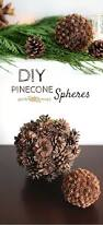 diy decor in minutes pinecone spheres pinecone holidays and craft