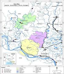 India Regions Map by Map Of The Selected Districts In Drought Prone Rajshahi Region Of