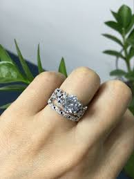 Jeulia Wedding Rings by 47 Best Our Customers U0027 Rings Images On Pinterest White Sapphire