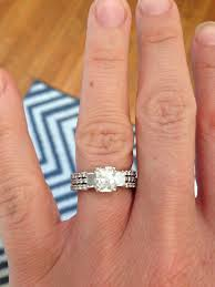 engagement rings and wedding band sets show me pics of your 3 e ring and wedding band set