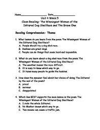 reading wonders grade 3 unit 4 week 5 comprehension worksheets by