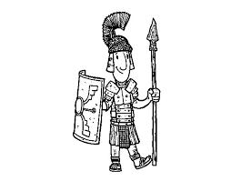 roman soldier coloring coloringcrew