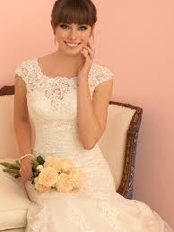 cap sleeves sheer back elegant lace trumpet wedding dress queen