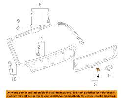 lexus rx300 exhaust system diagram lexus toyota oem rx300 liftgate tailgate hatch lower trim panel