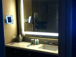 Bathroom Mirror With Built In Light Built In Bathroom Mirror Hotel Awesome Lighted Magnifying Mirror