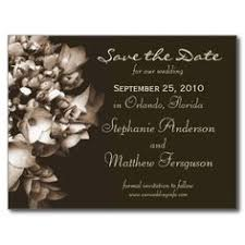 Affordable Save The Dates Antique Gold Save The Date Swirl And Flourish Post Card