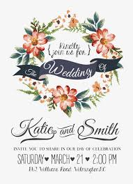 watercolor flowers wedding invitations vector material creative