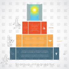 infographics for business success startup businessman steps up