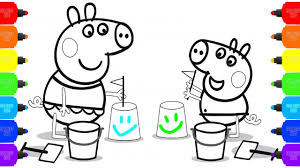 peppa pig baby coloring pages how to color u0026 draw peppa pig