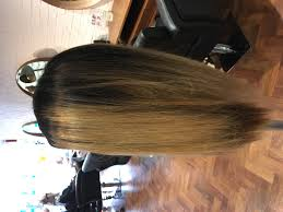 smooth blow dry long hair client hairdressing apprenticeship