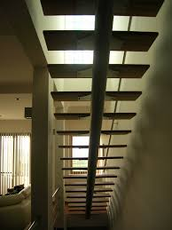 modern steel and wood indoor stairs stainless steel and metal
