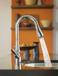 Pull Out Spray Kitchen Faucets Faucet Com 7594c In Chrome By Moen