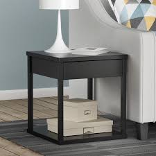 Accent Table L Square End Table In Black 5185096w