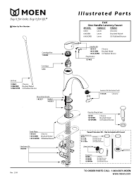 single lever kitchen faucet repair moen single handle faucet repair 7400 parts diagram delta kitchen