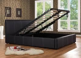 Ottoman Bed Black Birlea Berlin 5ft King Size Fabric Ottoman Bed Frame In Grey 249