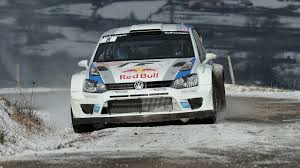 volkswagen snow volkswagen polo rally snow front red bull wrc