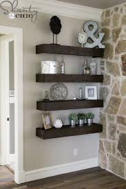 Hanging Wall Shelves Woodworking Plan by Diy Floating Shelves With And Pulley Free Plans Pulley